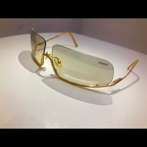 Ferre Gold plated Upside-Down sunglasses. Italy.